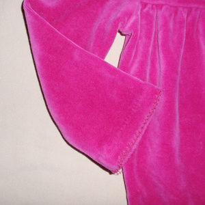 Ralph Lauren One Pieces - Ralph Lauren Hot Pink Velour Girls Footie Sleeper